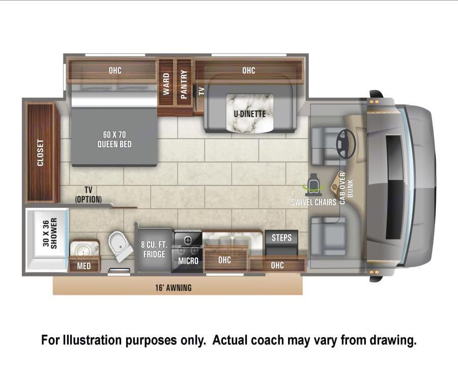 Floorplan. Entegra Coach Odyssey 24B 2020