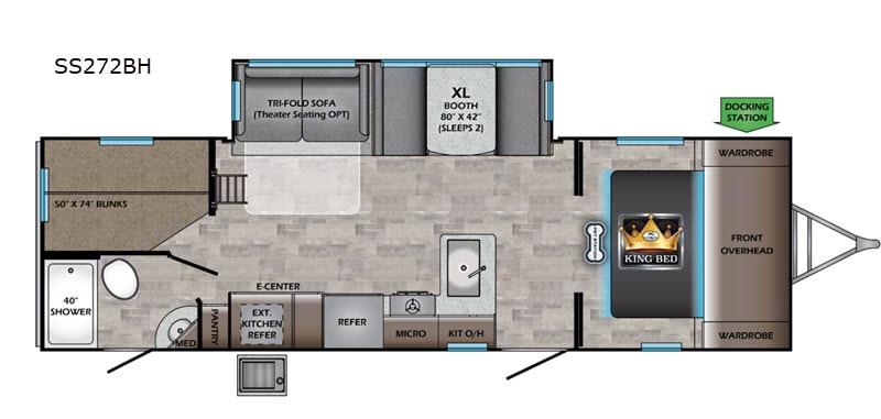 "floor plan 31'.5"". Crossroads Sunset Trail Ultra Lite 2020"