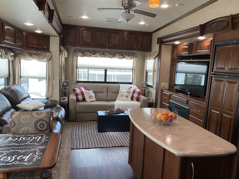 Beautiful living area with island kitchen. . Palomino Columbus 2013