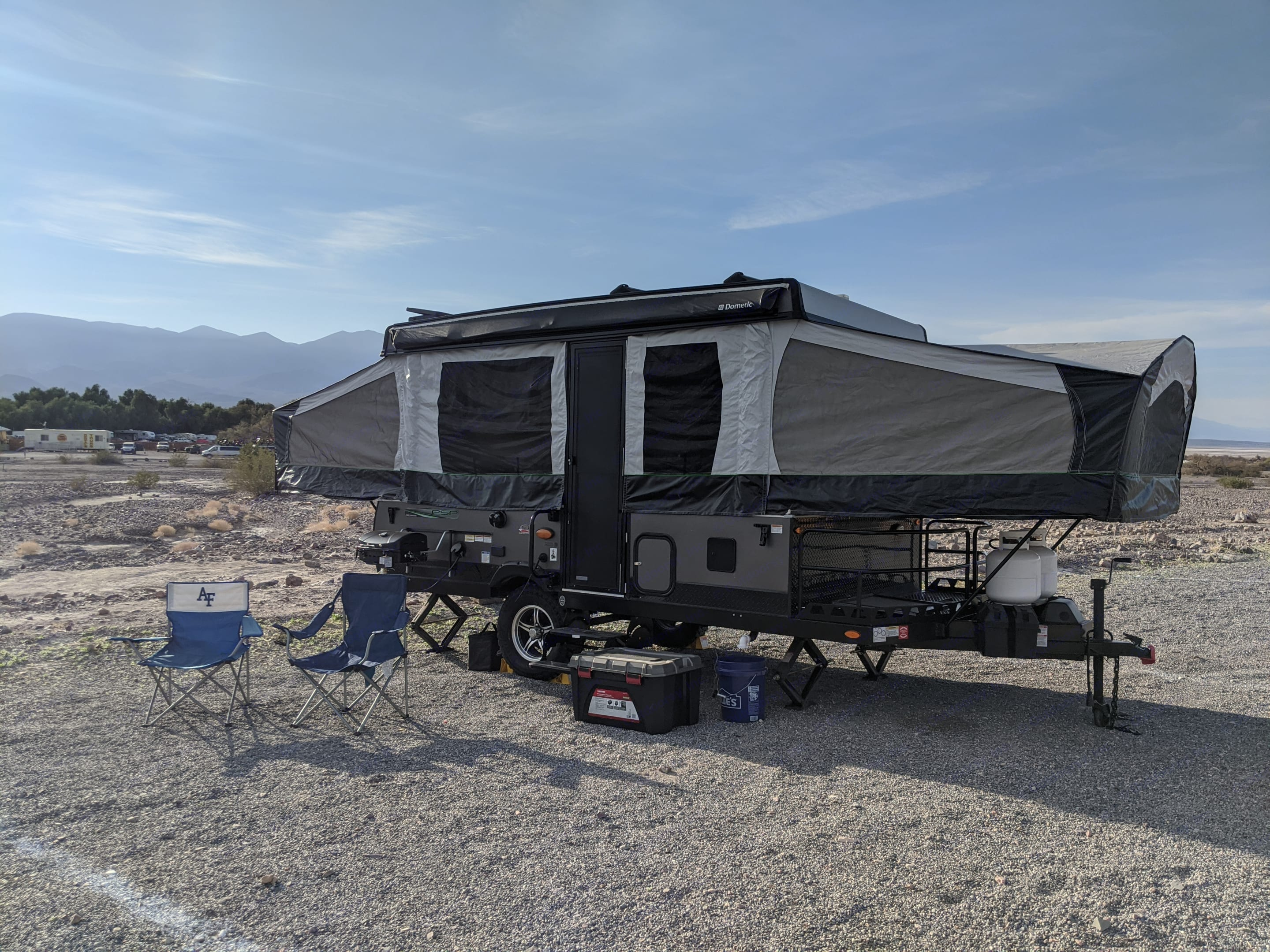 Sunset Campground - Death Valley NP, CA. Forest River Rockwood Freedom 2019