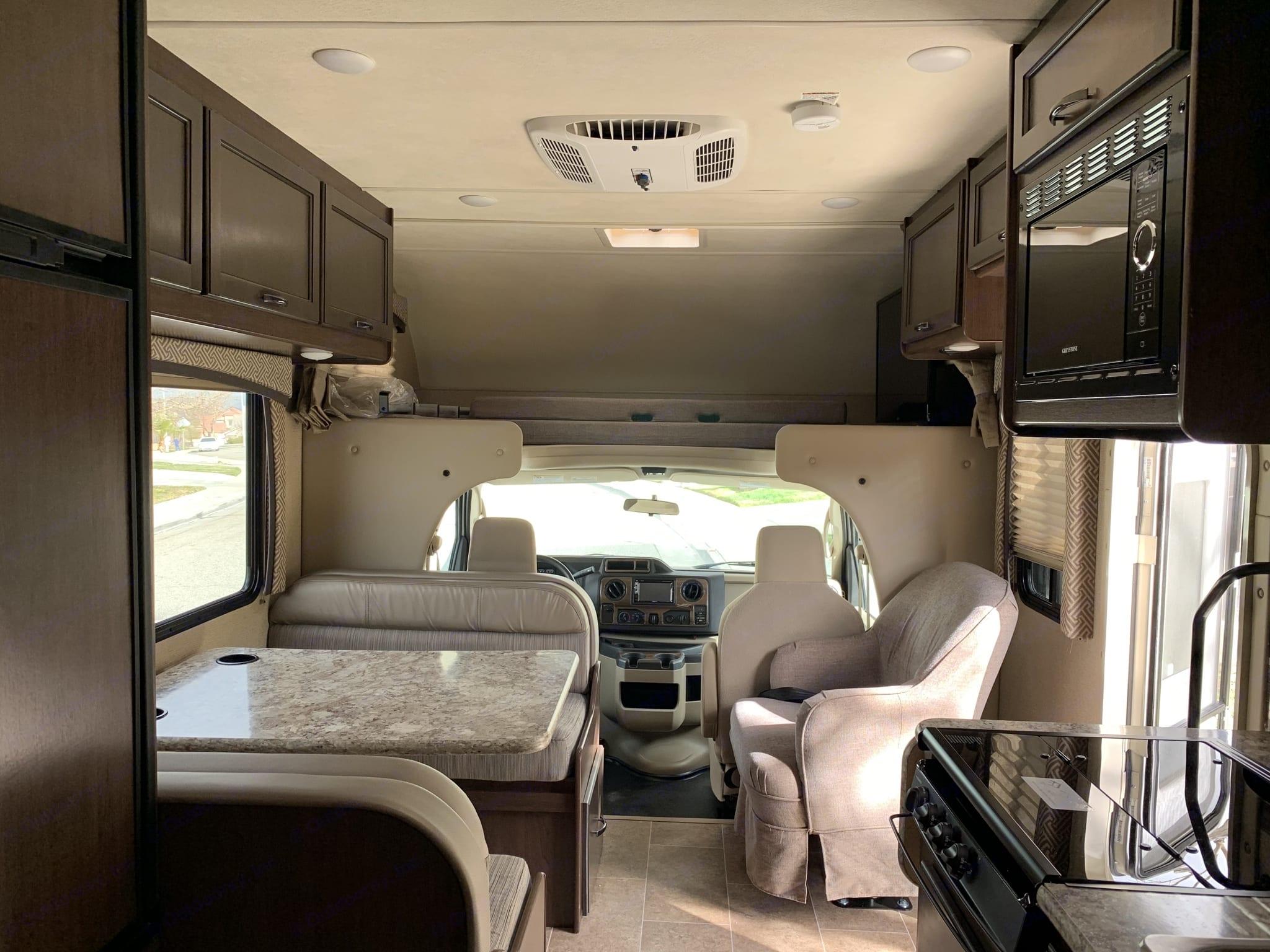 Plenty of room.  Sleeps six and has plenty of storage.. Thor Motor Coach Chateau 2018