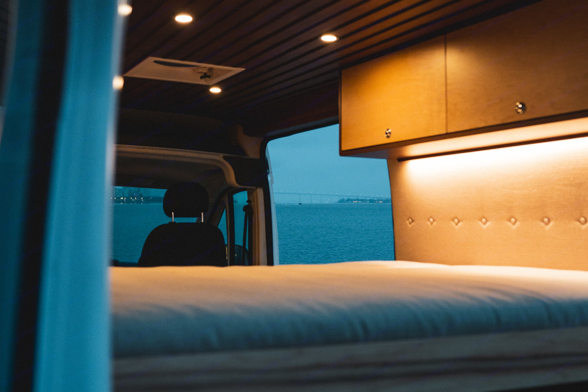 Recessed lighting sets a cozy vibe.. Dodge ProMaster 2018