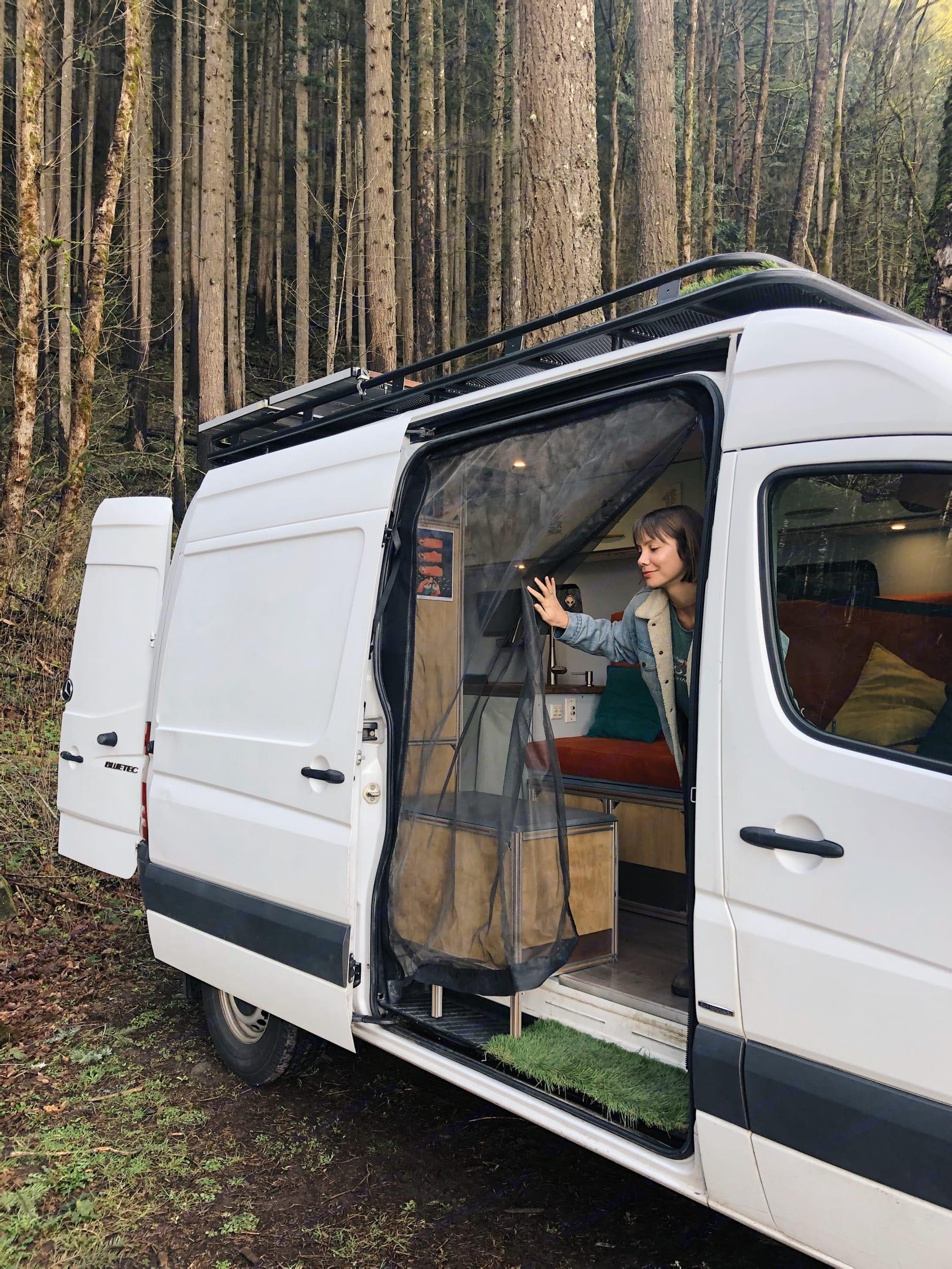 Bug netting keeps the interior free of pesky bugs. . Mercedes-Benz Sprinter 2012