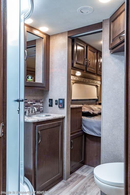 Kitchen from door to door. Thor Motor Coach Four Winds 2020
