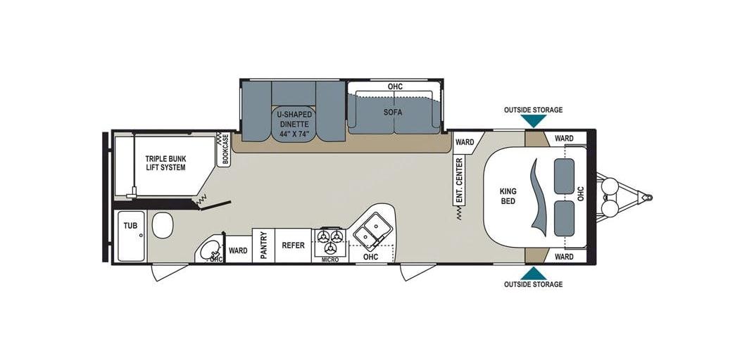 Floor Plan. Dutchmen Aerolite 2017
