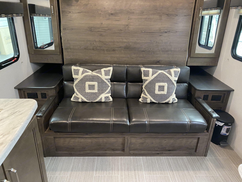 Comfy couch. Keystone Passport 2020