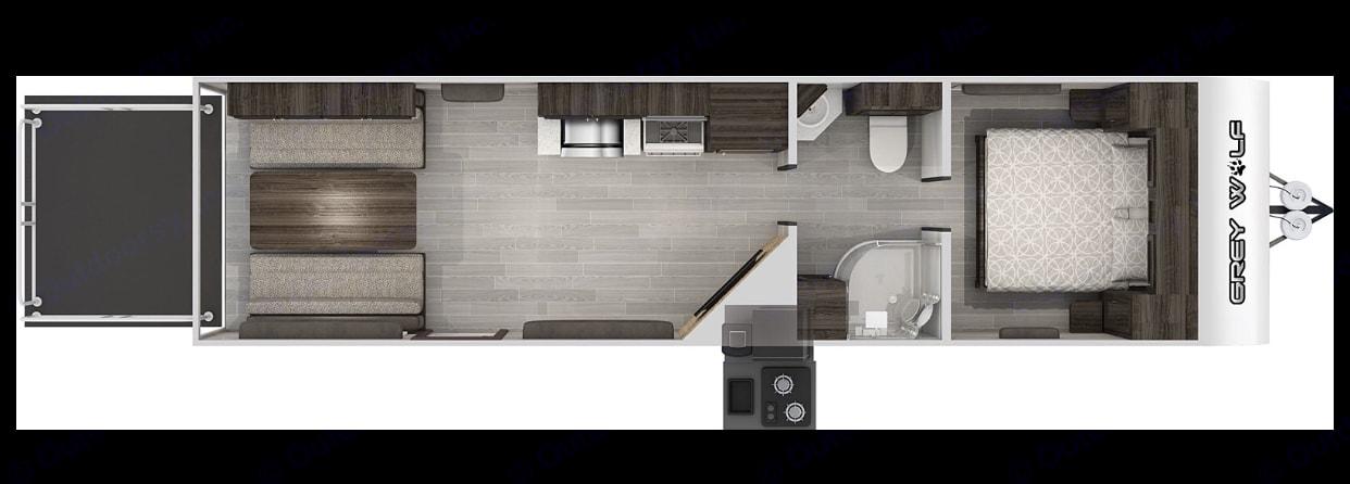 Floorplan. ForestRiver CherokeeGreyWolf 2020
