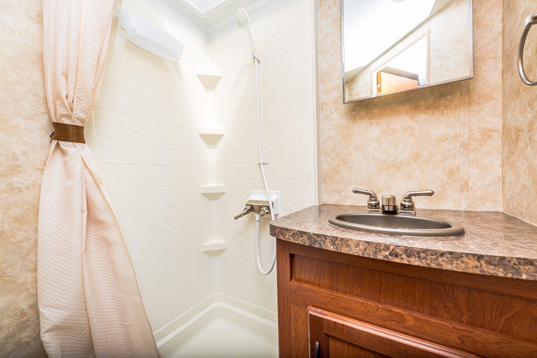 Clean bathroom. Pacific Coachworks Tango 2013