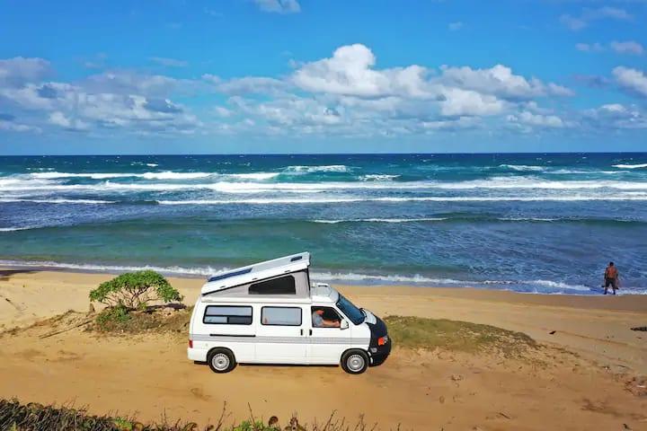 Luxury Camping on Kauai. Volkswagen Eurovan 1999