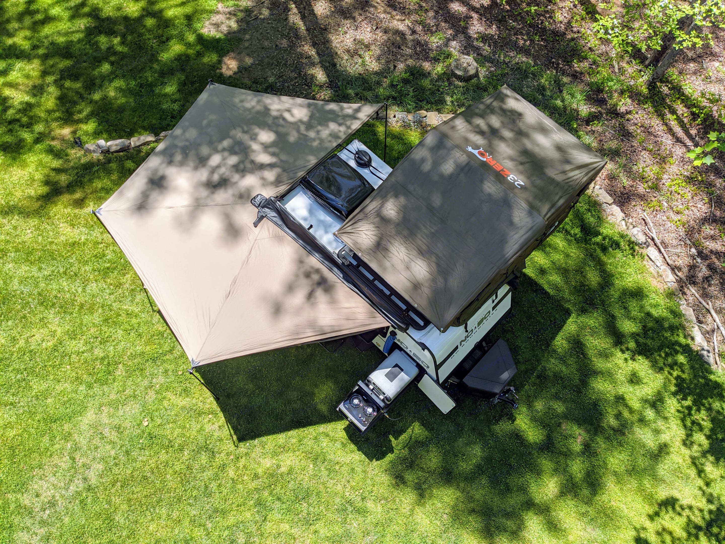 270 degrees of shade and UV protection. Forest River No Boundaries 10.6 2020