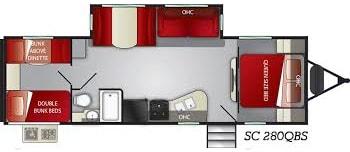 floor plan layout. Cruiser Rv Corp Shadow Cruiser 2021
