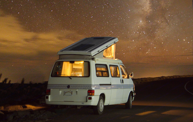 """Watching the Milky Way is a """"must-do"""" in a camper van.. Volkswagen Eurovan 1999"""