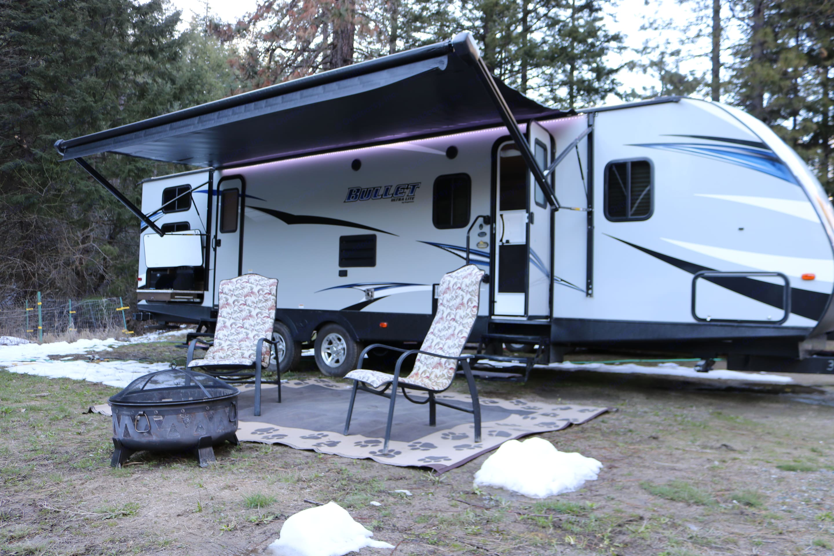 All set up, ready to relax!. Keystone Bullet 2018