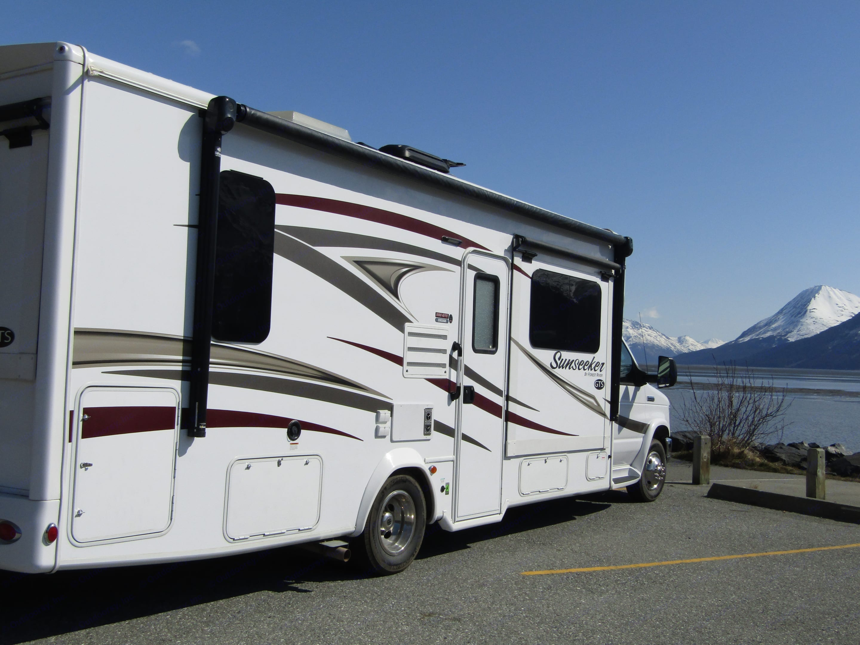 Our rig is ideal for a couple or smaller family wanting to getaway.  Alaska is opening up!. Forest River Sunseeker 2017