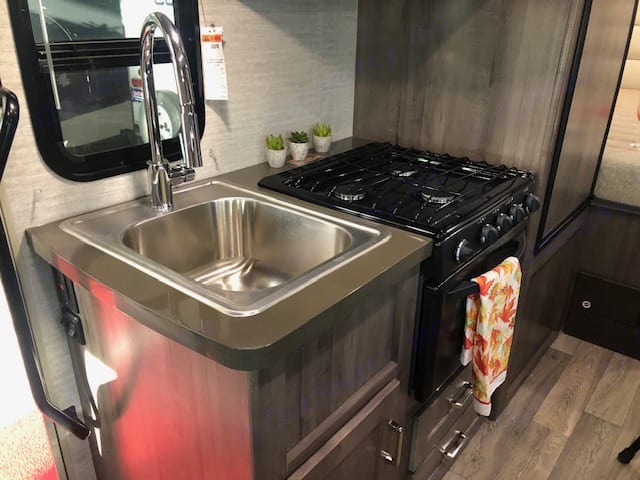 Everything even the kitchen sink.  Love the faucet and sink.  Window to look out when using the sink.. Winnebago MinnieWinnie 2020