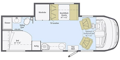 Floor Plan. Winnebago Via 2015
