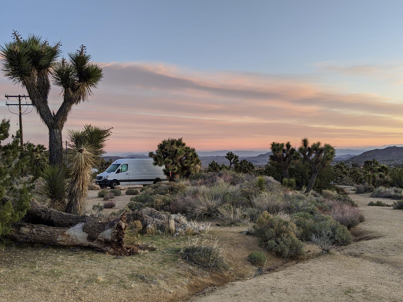 Joshua Tree National Park Sunrise. Mercedes Sprinter 2015