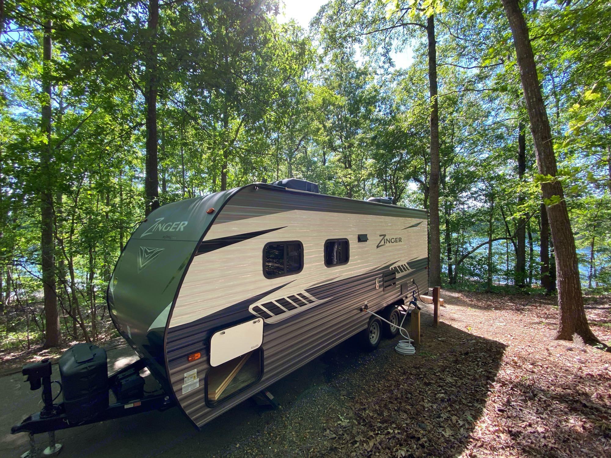Shady Grove Campground. Spot 30. Lake Lanier, GA. GORGEOUS weather!. Crossroads Zinger 2018