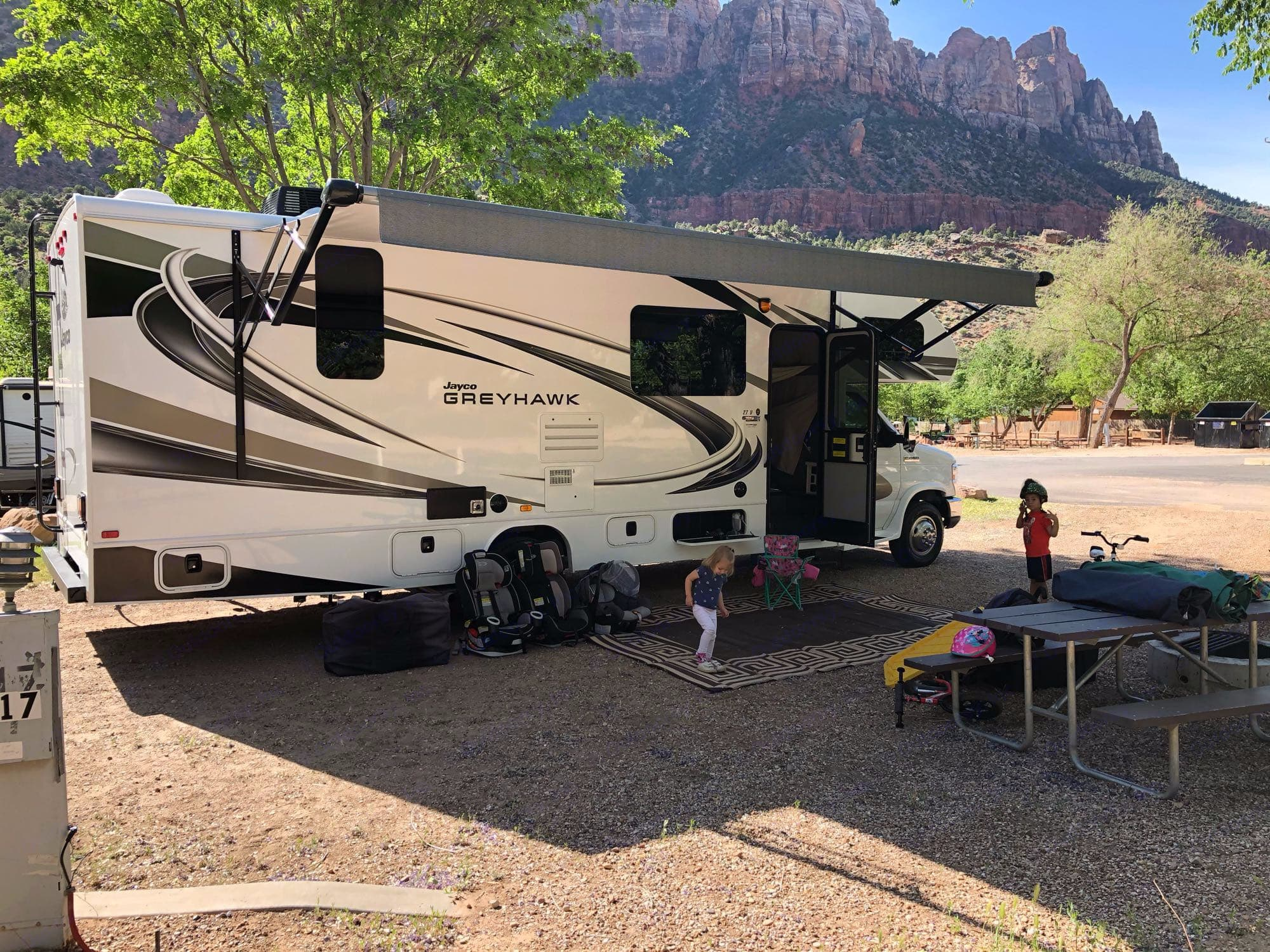 Large awning to cover your campsite. Jayco Greyhawk 2020