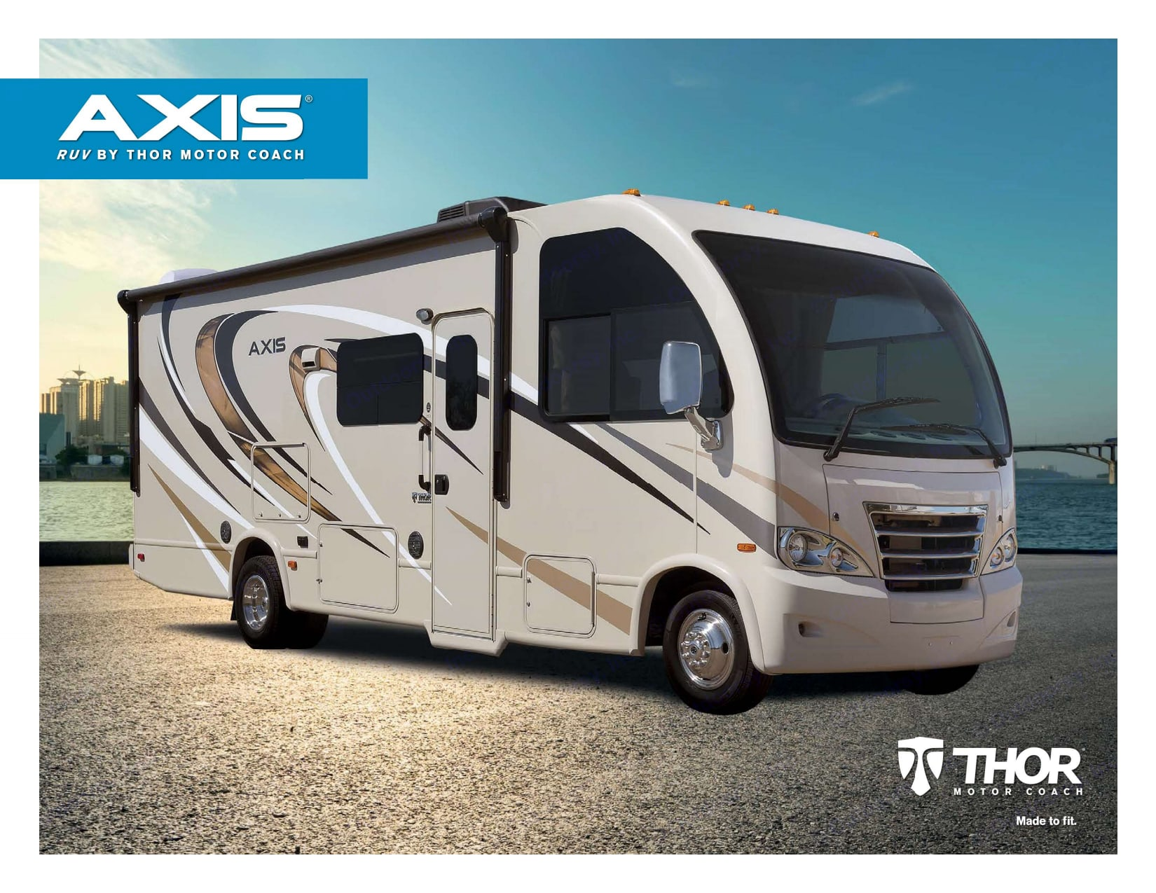 """IDEAL """"CLASS A COACH"""" """"RUV"""" (recreation utility van) NEW CONCEPT put on the RV market in 2016. Most unique Class A in my 41 yrs owning RV's. Thor Motor Coach Axis 2017"""