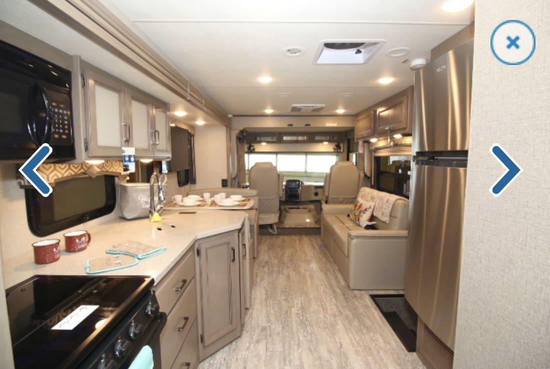 kitchen to front. Thor Motor Coach Hurricane 2020