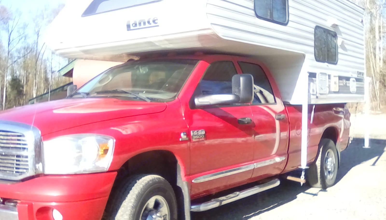 2008 Ram 3500 1 ton 4 door 4wd pickup.. Lance Lance Camper 1997