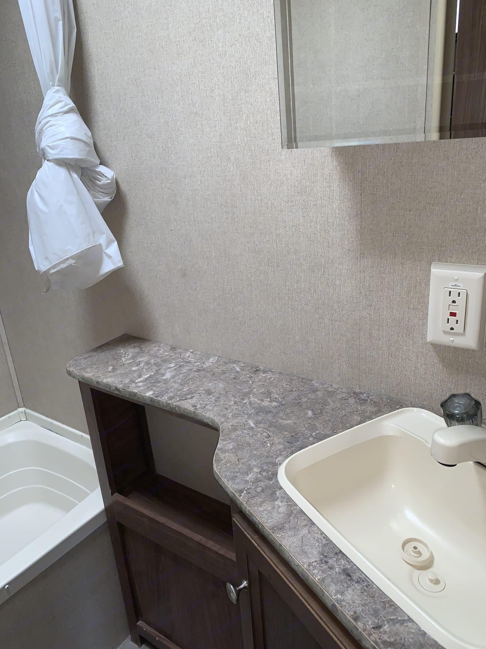 Bathroom counter. Dutchmen Coleman 2018