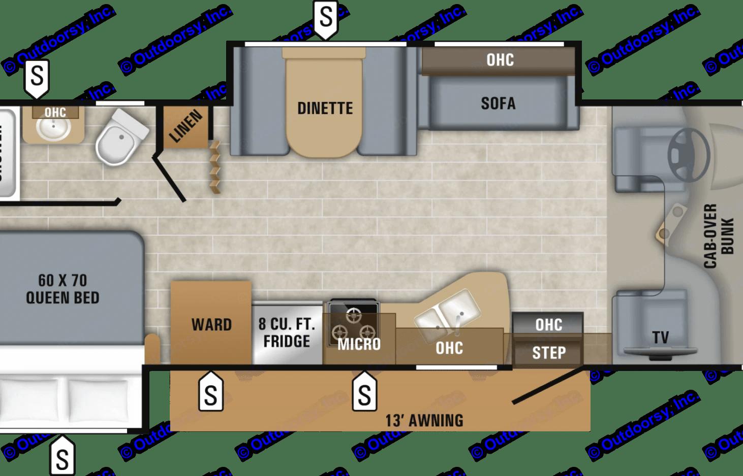 practical floor plan. Jayco Class C Motorhome 2019