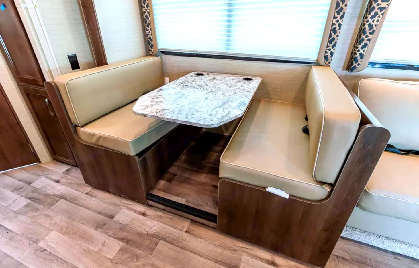 Dinette turns in bed easily. Jayco Class C Motorhome 2019