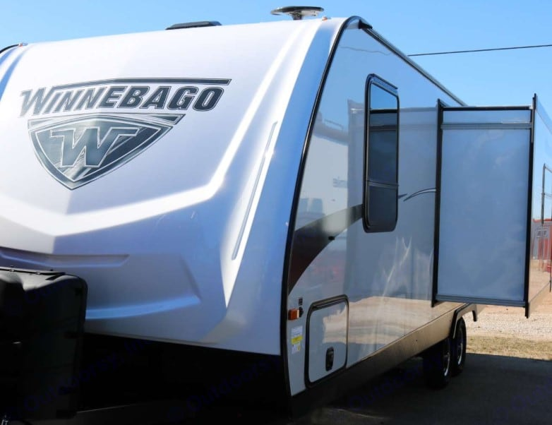 Front view with slide out. Winnebago Minnie 2019