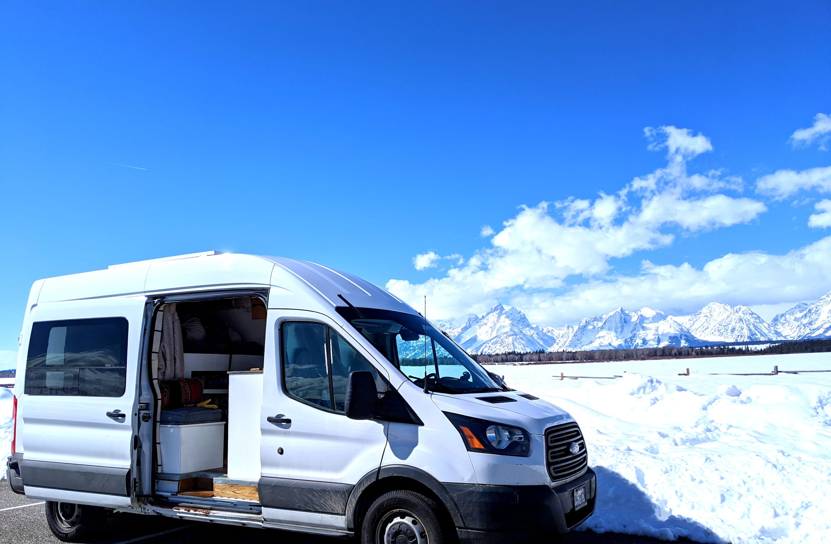 Vanny in the Grand Tetons, WY. Ford Transit - High Roof 2015