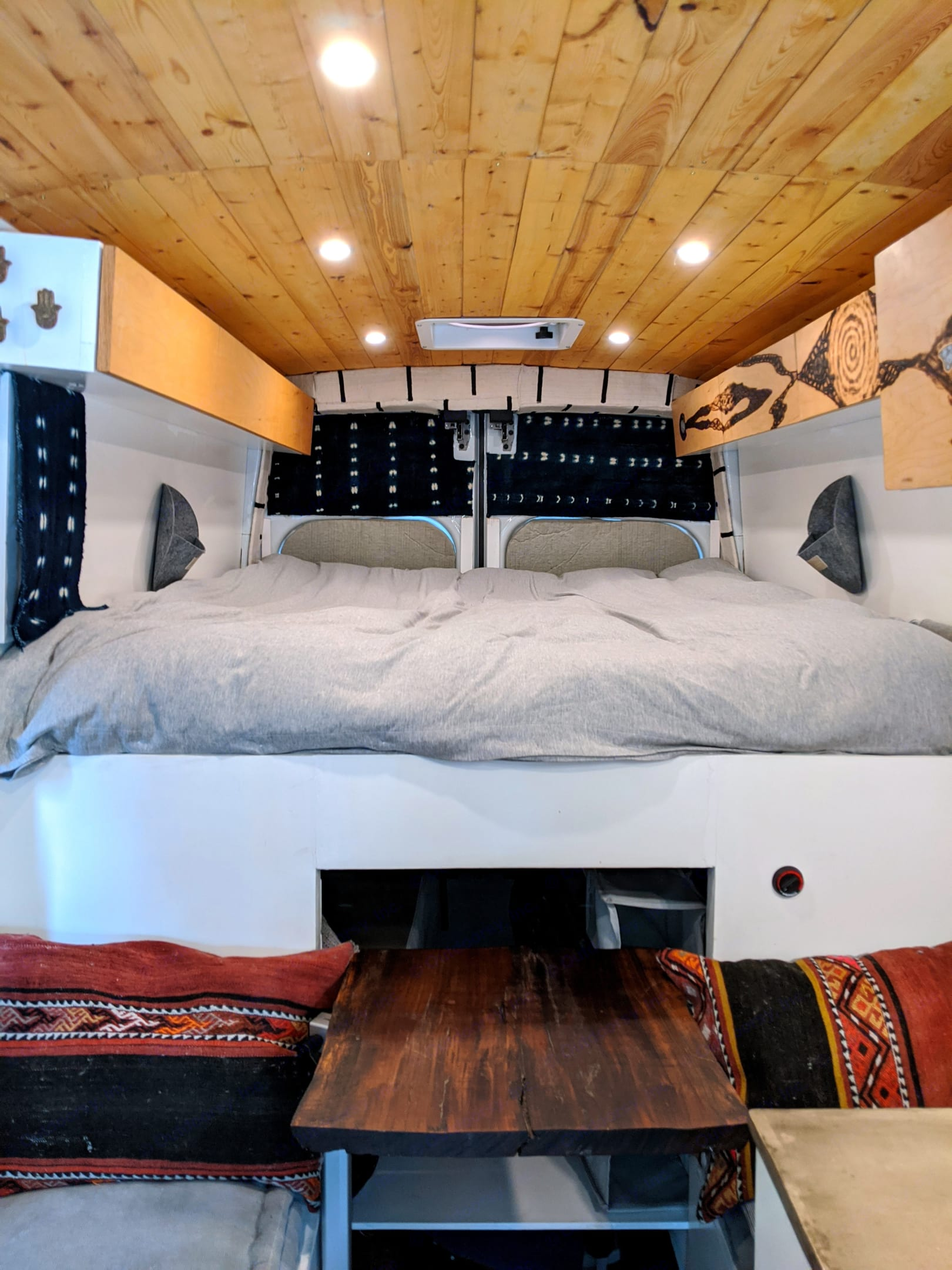 Upper Bunk area. Ford Transit - High Roof 2015