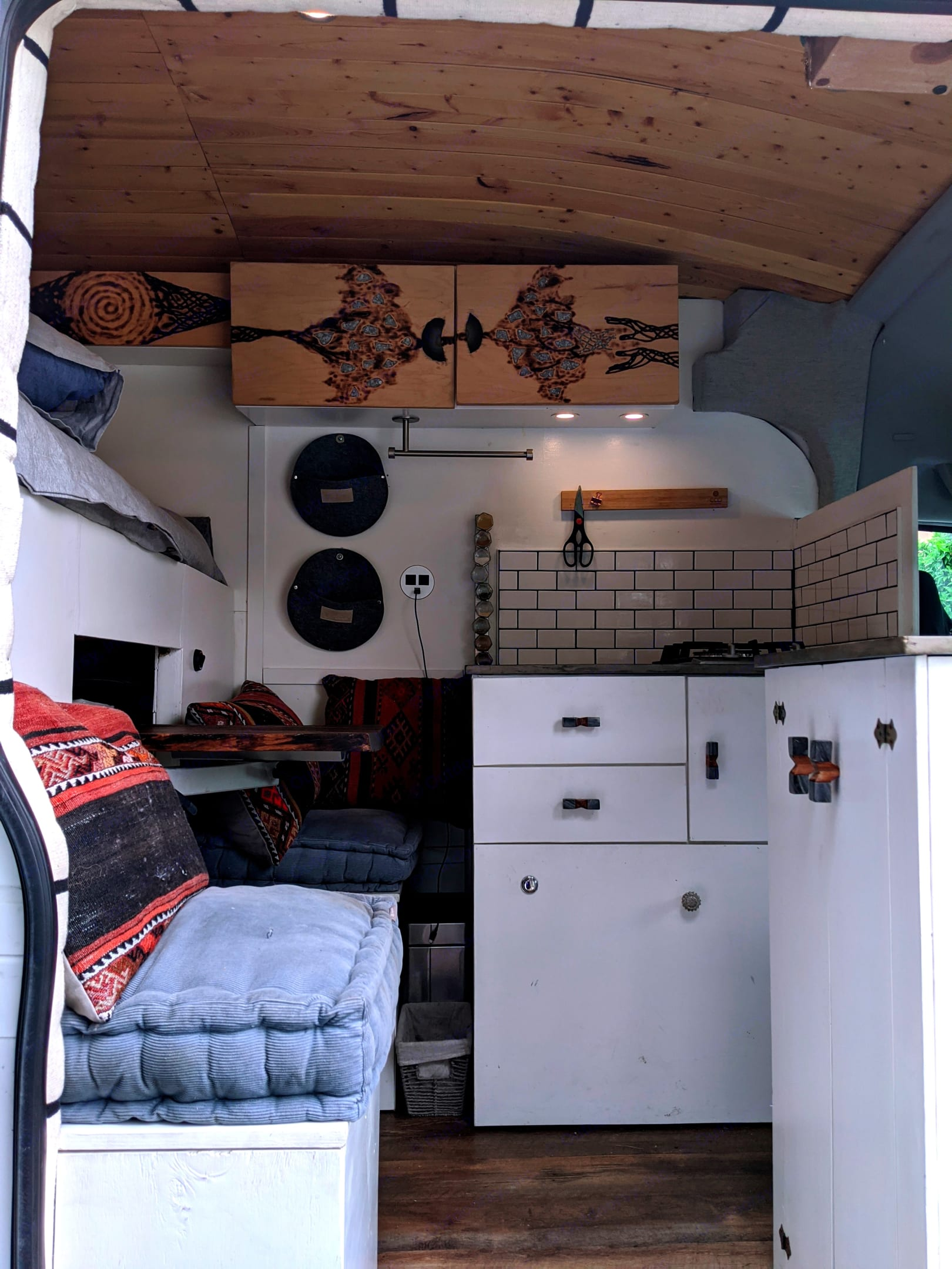 Kitchen + living area. Ford Transit - High Roof 2015