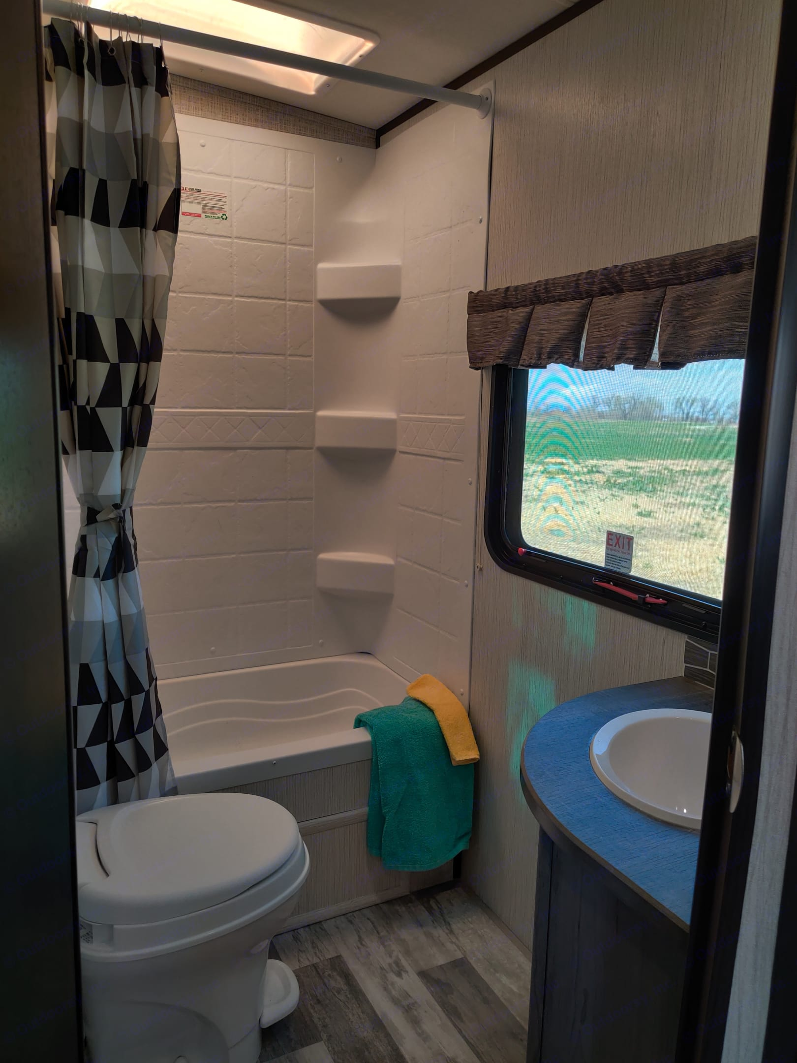 Full bathroom with shower and small tub. Heartland Other 2020