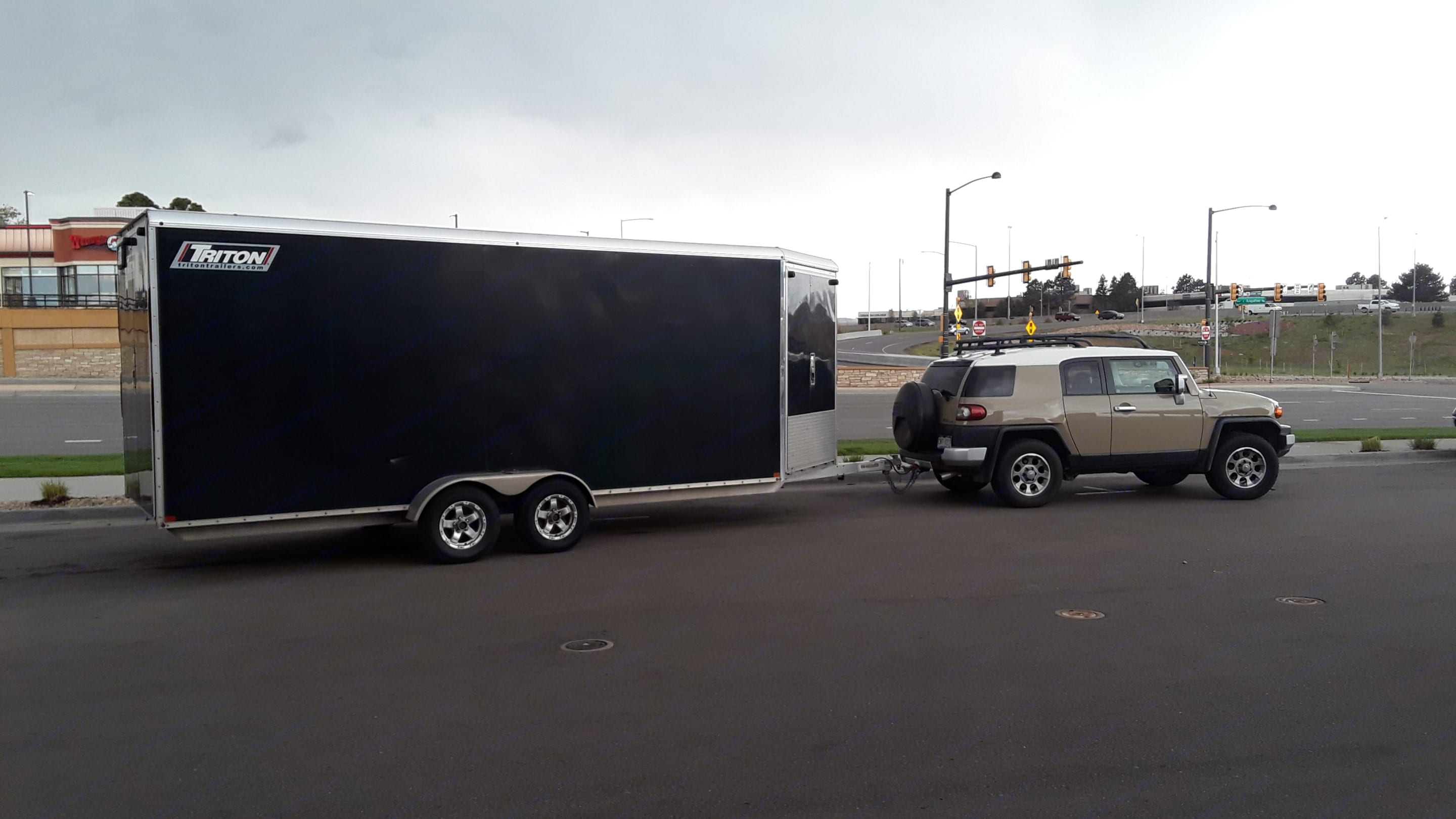 Need a Tow Vehicle? We rent an FJ Cruiser  we call Fiona, and a Ford F-150 Ecoboost that we call Trigger here as well. Triton 18' Cargo Trailer 2015