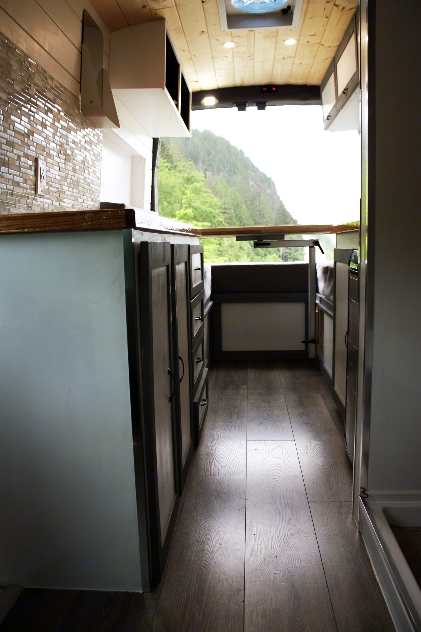 Conveniently located storage options . Ford Transit Custom Campervan Conversion 2015