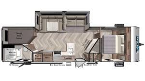 Floorplan. Forest River Salem 2021