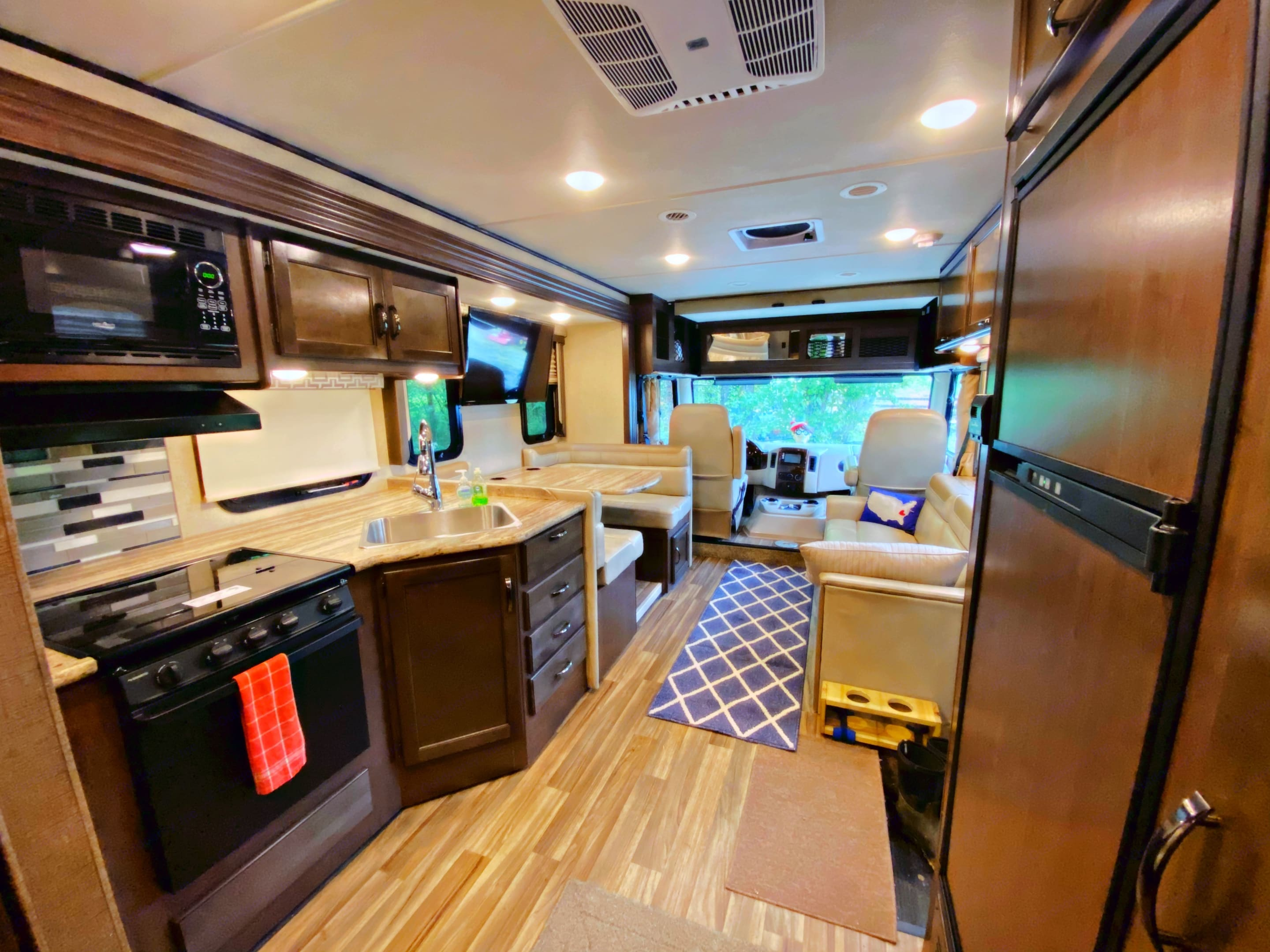 Waldo comes with a fully stock kitchen-you just need groceries.. Thor Motor Coach A.C.E 2018