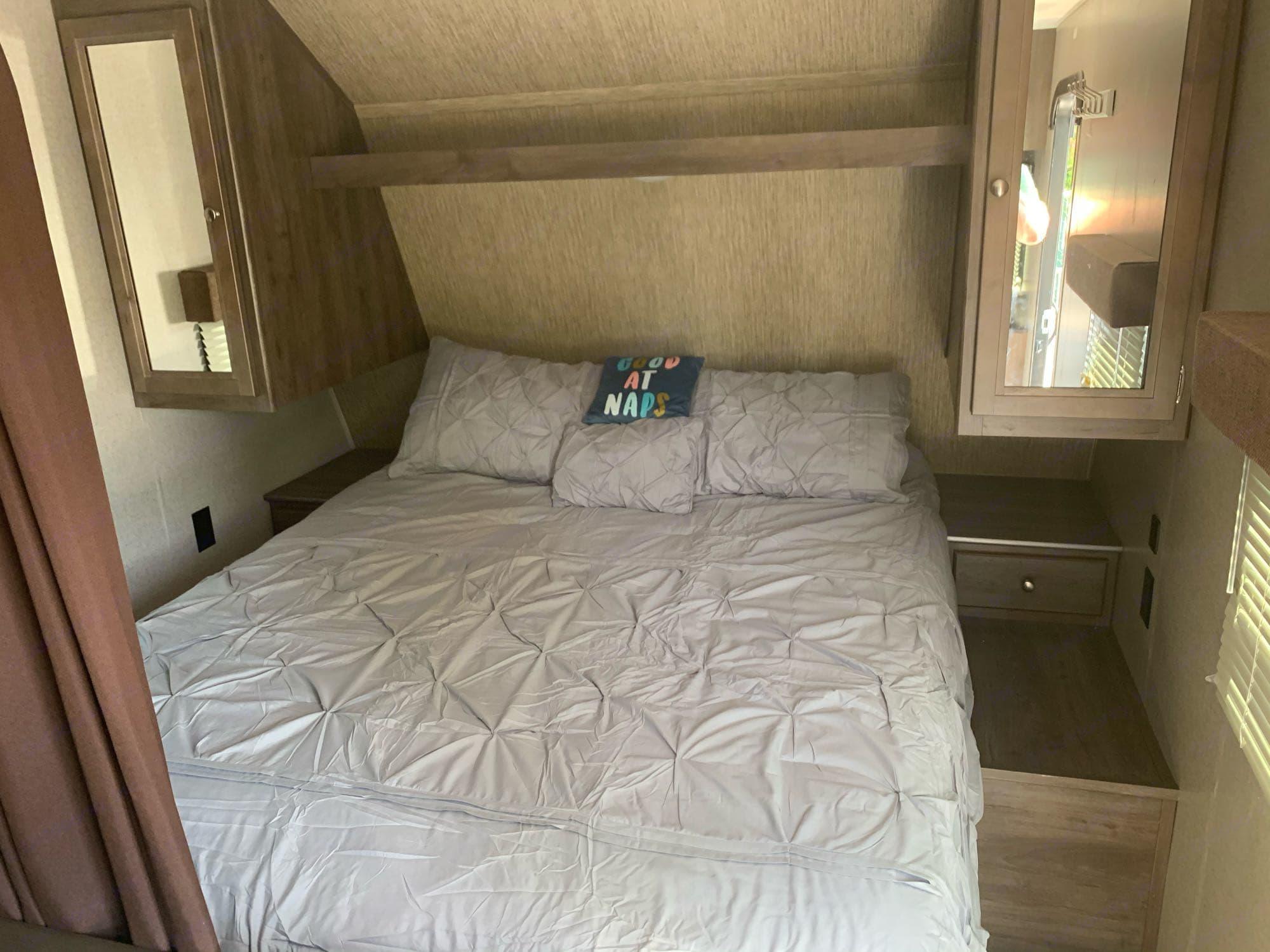 Master Bedroom real queen size mattress. Coleman Lantern Series 274 BHS 2018