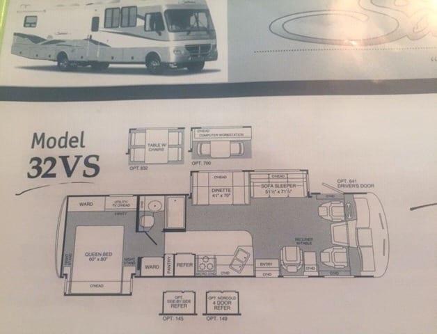 floorplan. Fleetwood Southwind 2003