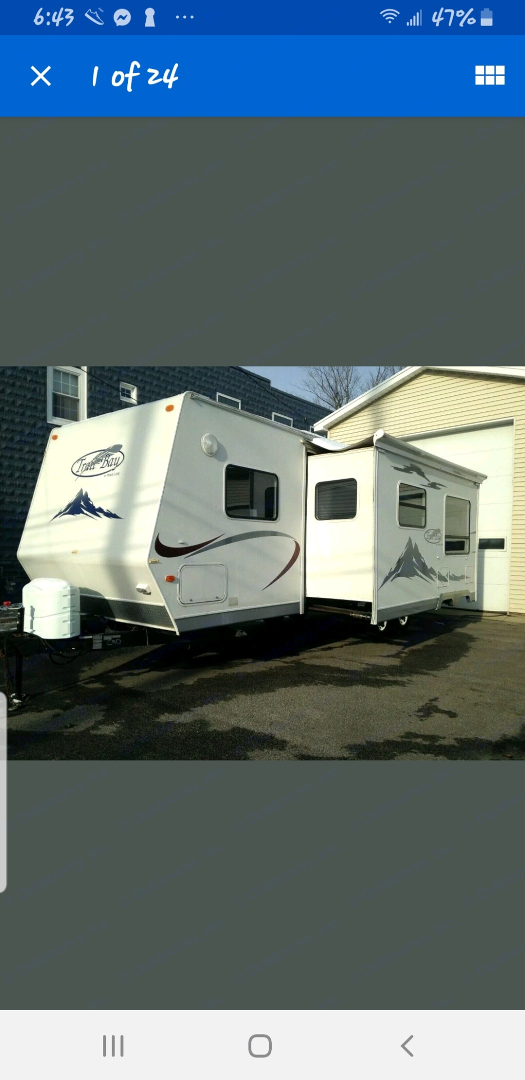 29' trailer with 12' slider. R-Vision Trail-Bay 2006