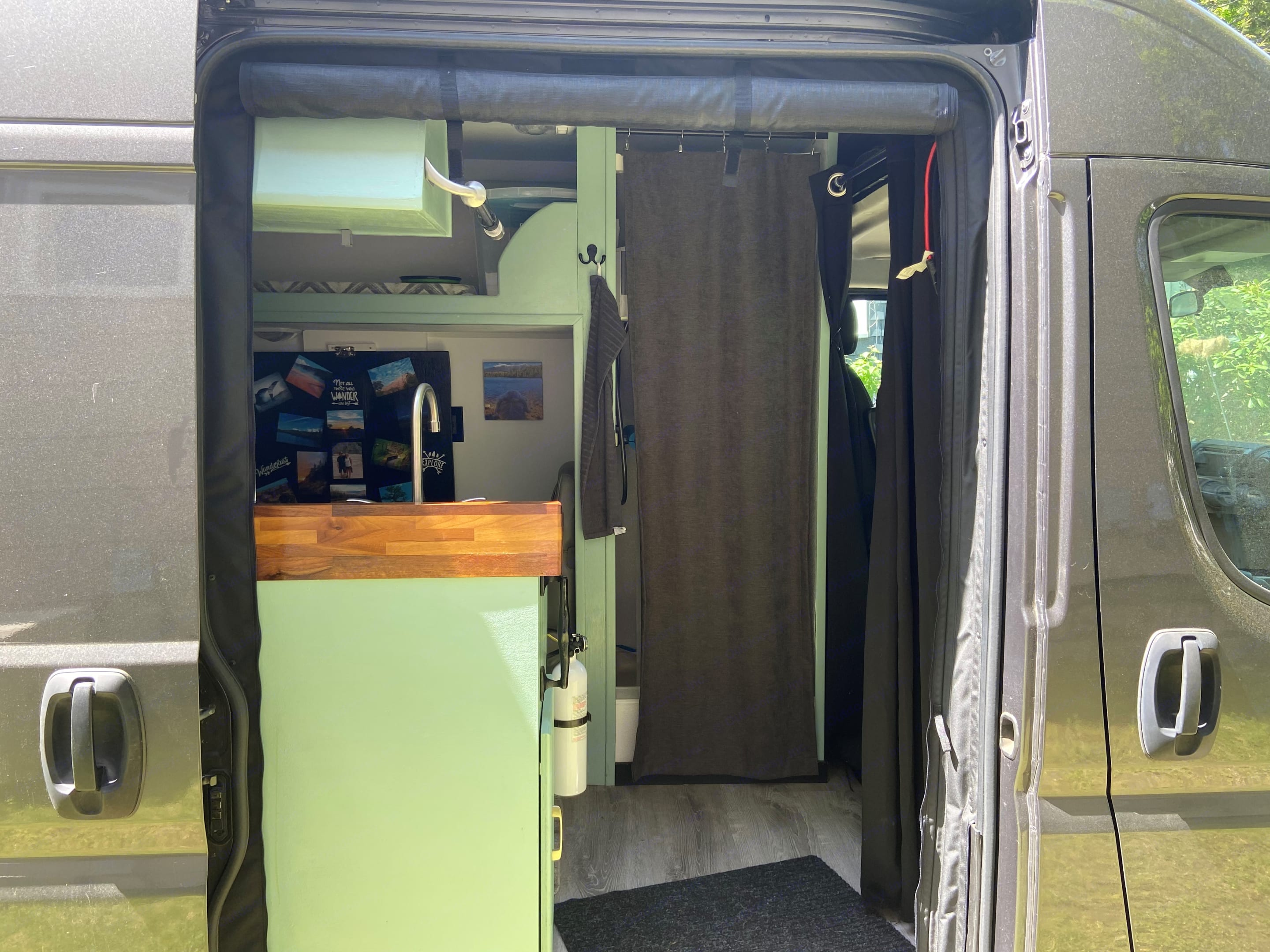 outside looking in. Dodge Promaster 3500 extended high roof 2016
