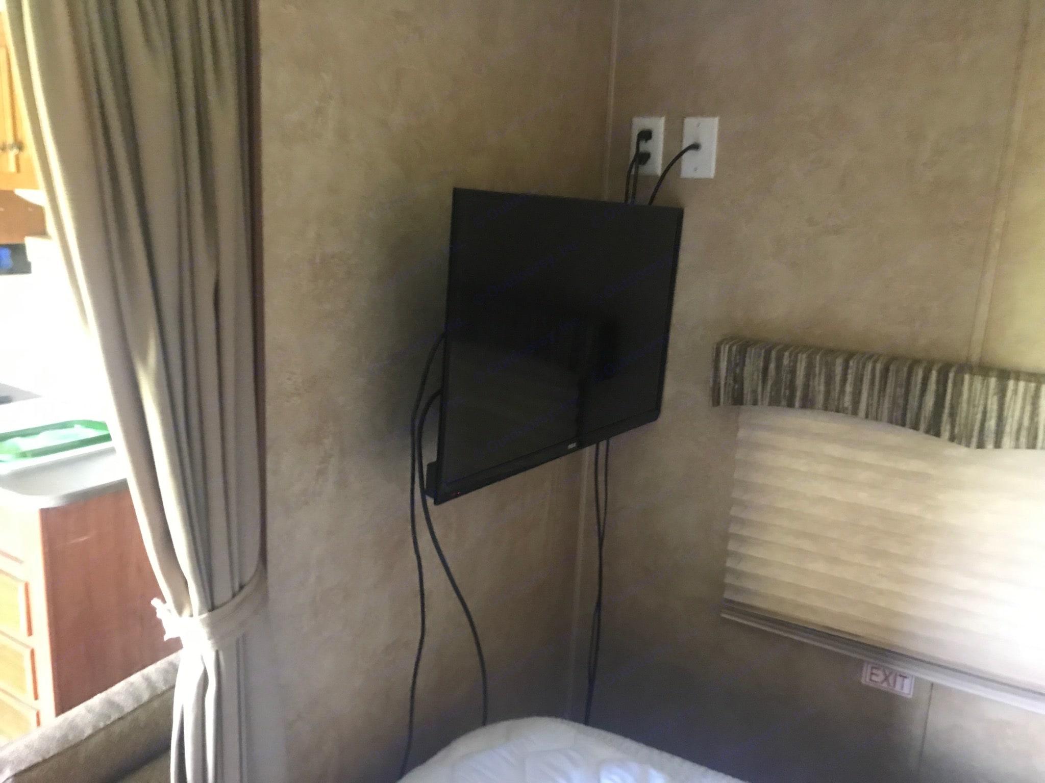 Flat screen/DVD  in Master Bedroom. Jayco Swift 2012