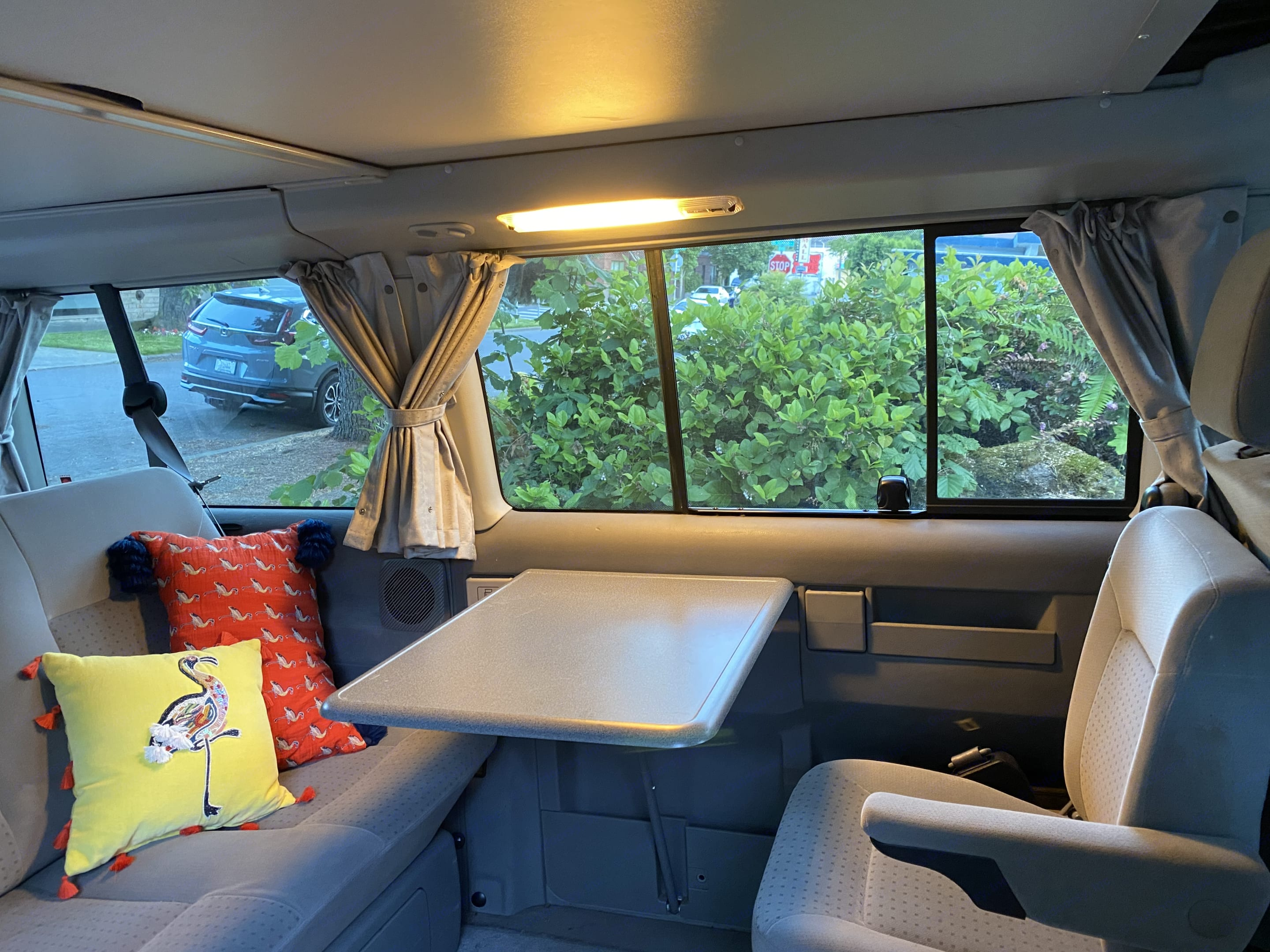 This table folds out and is convenient for picnics inside the van.. Volkswagen Westfalia Eurovan Weekender 2002