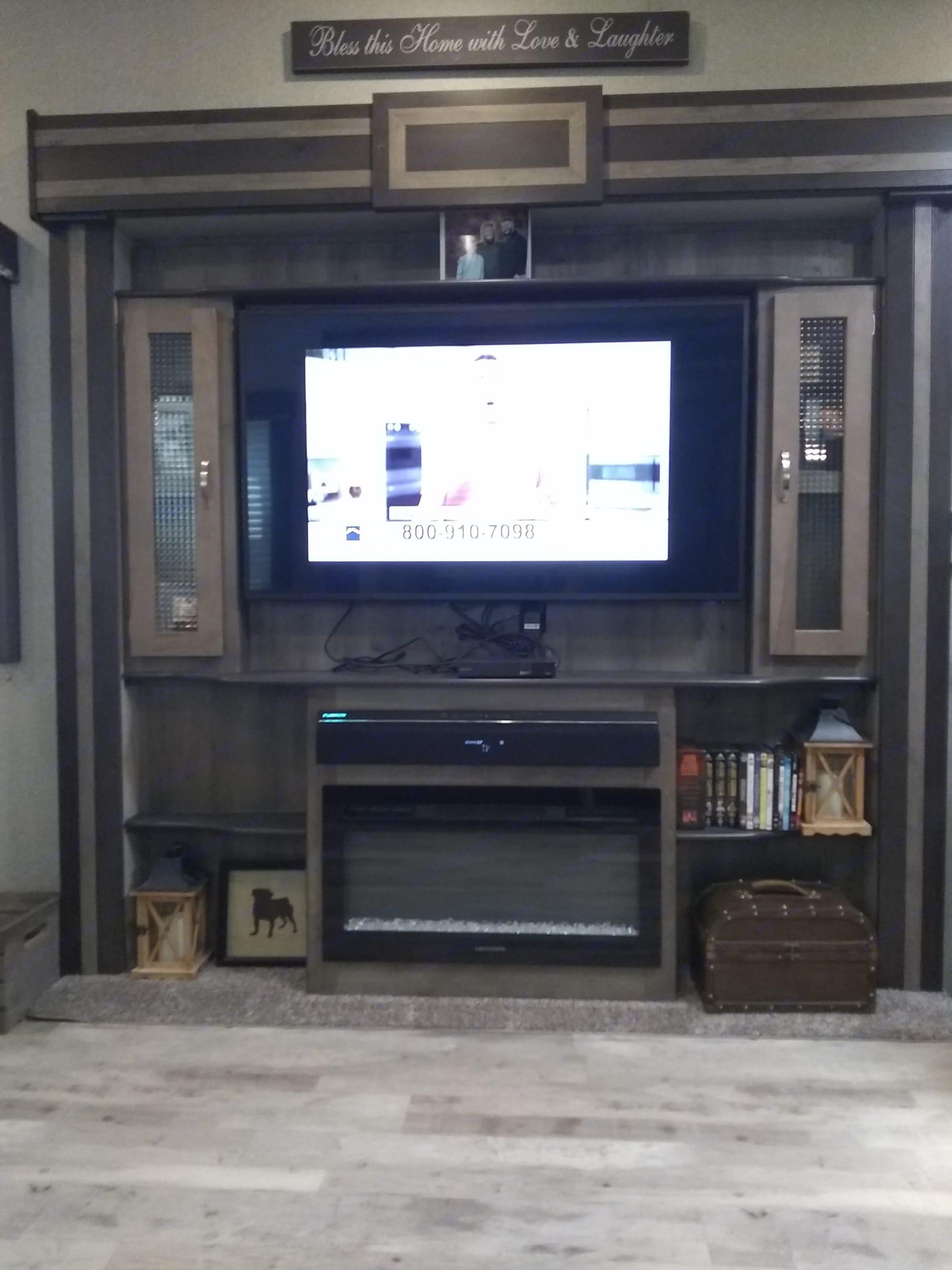 TV with surround sound. Keystone Sprinter 2019