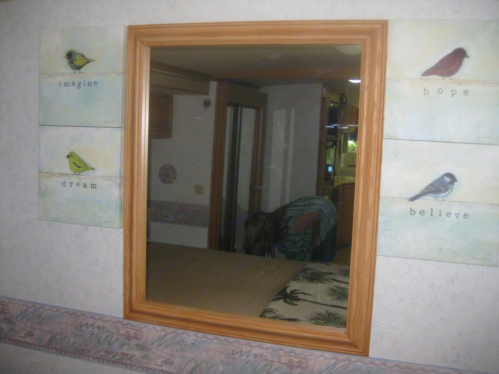 Master bedroom mirrow. Winnebago Adventurer 2003