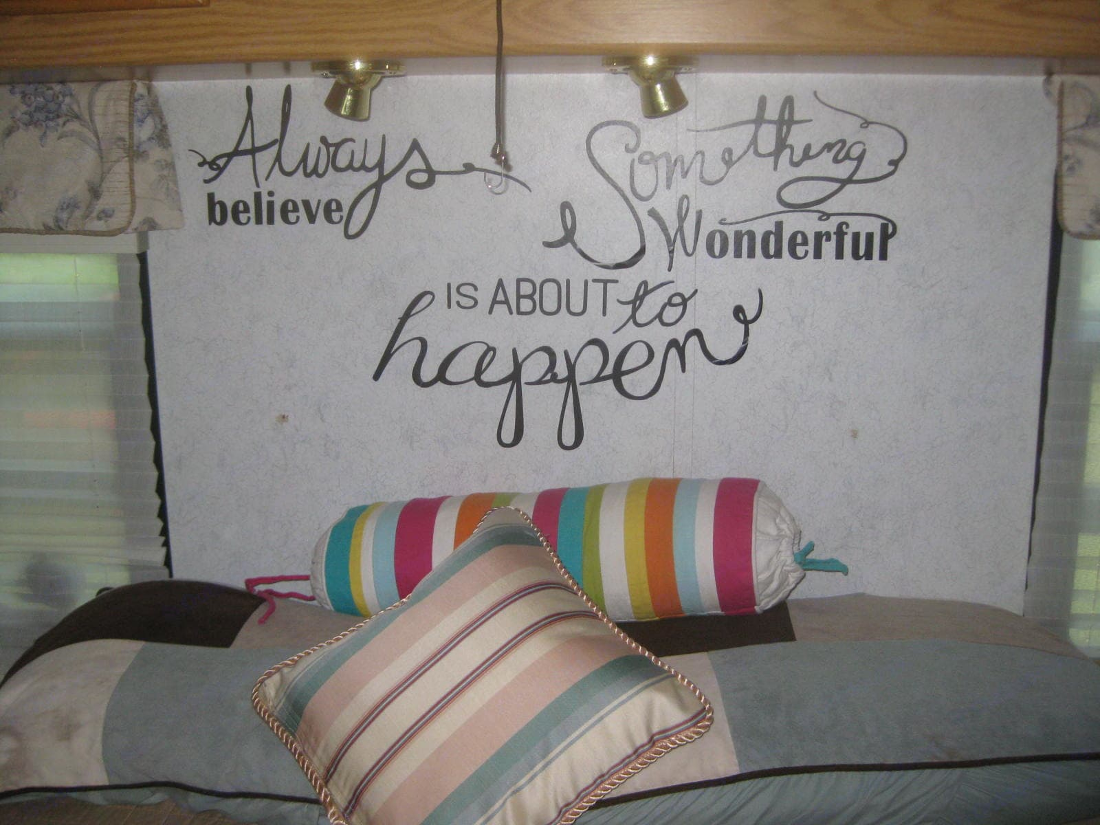 Always believe something wonderful is about to happen.. Winnebago Adventurer 2003