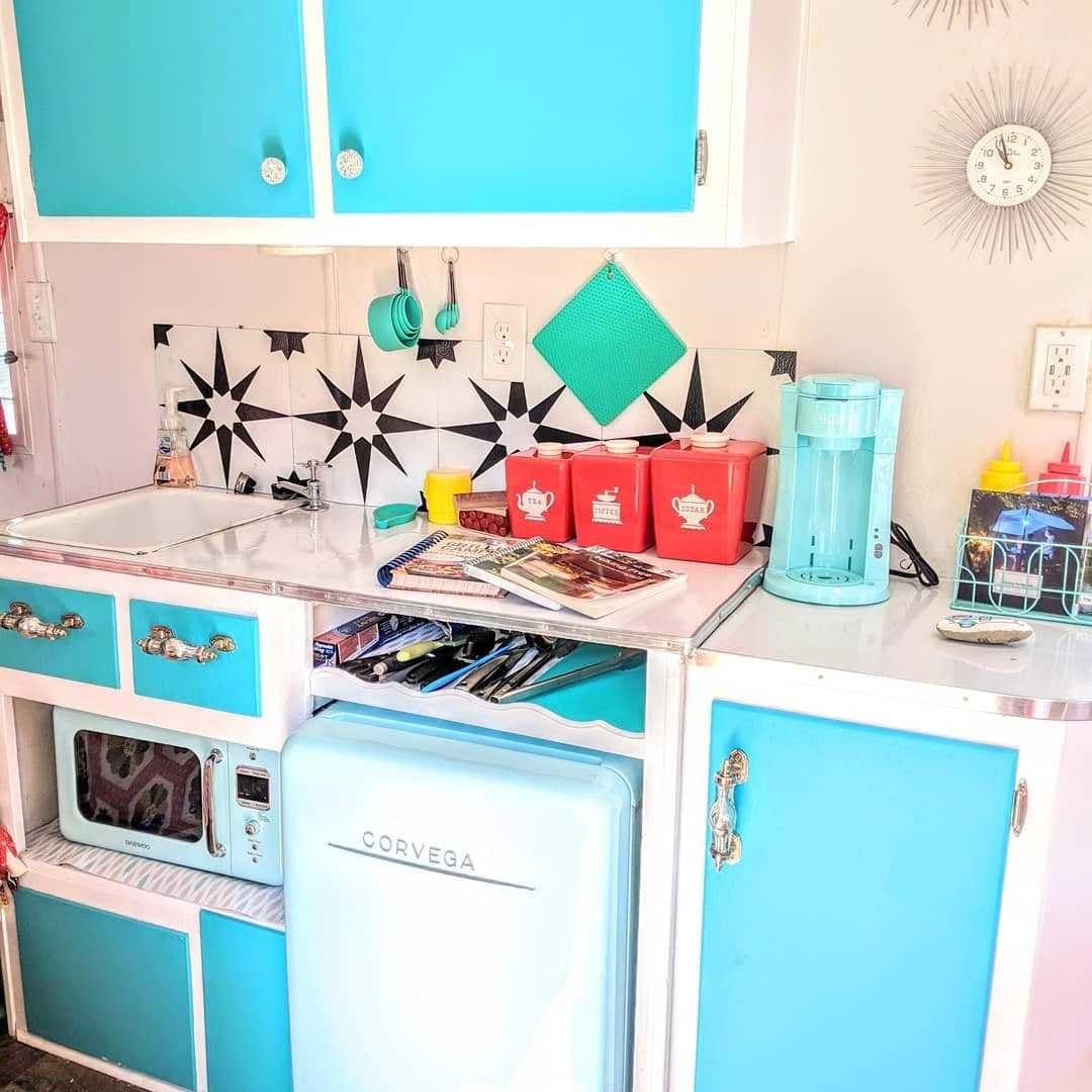 Mini fridge and Microwave included. Shasta Custom 1960