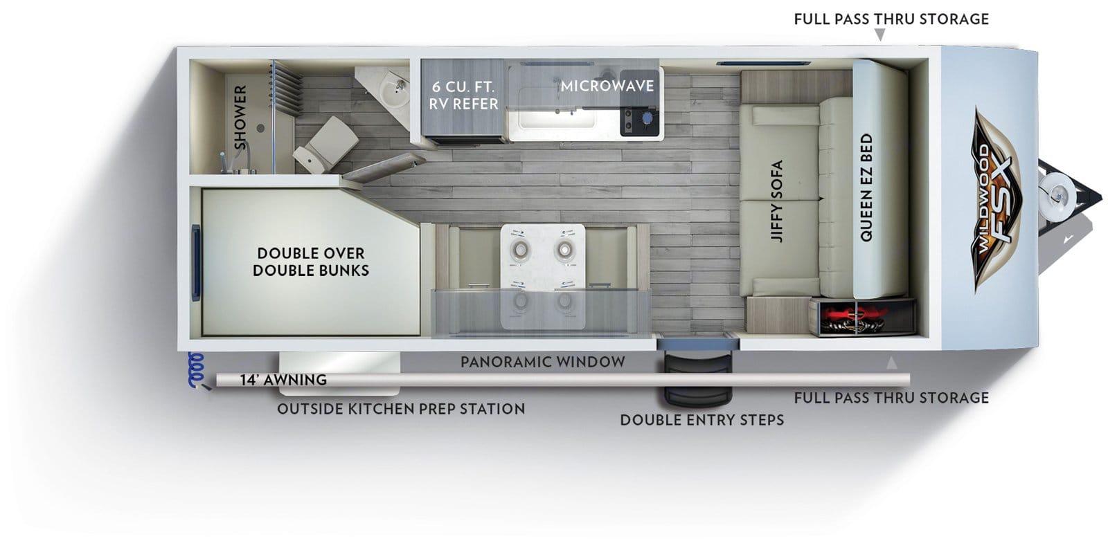 Floorplan. Forest River Wildwood 2021
