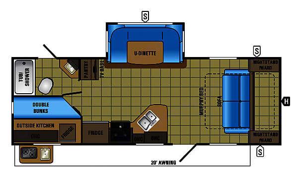 Jayco 24MBH Floorplan. Jayco White Hawk 2017